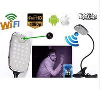 Wifi Remote Intelligent Table Lamp 1080P CCTV Mini caméra Motion Detection H.264 Code vidéo IR nuit version DVR USB Disk PC caméscope