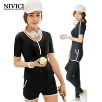 Wholesale NIVICI New yoga women sport suit gym Breathable Fitness Clothes Solid colors shorts Workout clothes for women tights pants