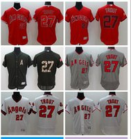 Wholesale Majestic - 2016 Men's Los Angeles Angels of Anaheim #27 Mike Trout Majestic Red Flexbase Authentic Collection Player Jersey High Quality Baseball Jerse