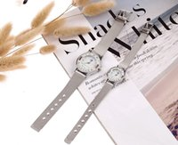 Wholesale Hot New Women Men New couple watch man and woman watch stainless steel band watch gift