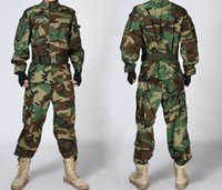 Cheap Wholesale-Military Special Force Army Tactical Combat BDU Uniform Shirt Pants Woodland XL