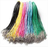 achat en gros de collier de fil tressé-Nouveaux 100pcs Collier Piercings Braid Cord Rope Chain Thread 18