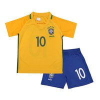 Wholesale Thail quality Kids uniforms Paris Brazil KIDS sets jerseys shorts more than set shipping with DHL