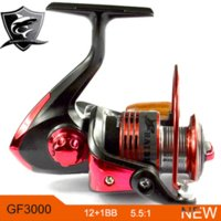 Wholesale Saltwater Fighter Spinning Fishing Reel Series Metal Spool Carp Fishing Reels Coil Wheel Tackles BB Red Color