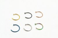 Wholesale LOT100pcs boby jewelry Medical Titanium G Nose Hoop Nose Rings Body Piercing Jewelry