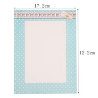 Wholesale Sale inch Rectangle Paper Photo Frame Wall Picture Album DIY Hanging Rope Frame