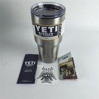 beer items - Hot Item oz Yeti Stainless Steel Rambler Tumbler Yeti Cooler Travel Vehicle Cars Beer Mug ml Large Capacity Yeti Cup By DHL