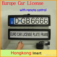 Wholesale New Europe Russia Plastic Remote Control Auto Car Licence Plate Holder Cover Stealth License Plate Frame mm mm mm