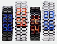 led lava watch - Mix colors NEW Metal Lava Style LED Iron Samurai Watch Men Women styles fashion classic watches LL001