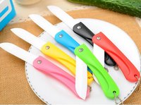 Wholesale Colorful Folding Ceramic Knife for Fruit Vegetable Eco Ceramica Kitchen Knives Cooking Tools Novelty Households