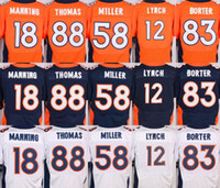 Wholesale NIK Elite Broncos jerseys cheap rugby football jerseys Denver MANNING THOMAS LYNCH MILLER WELKER orange nvay blue white
