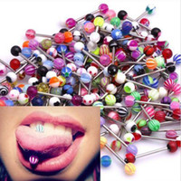 Wholesale 10 Stainless Steel Vibrating Massage Tongue Ring Stud Body Piercing Barbell