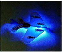 Precio de Planeadores de bricolaje-DIY Catapulta Volver Avión plano de los aviones del planeador de la goma de lanzamiento Modle flechas LED Juguetes voladores juguetes para adultos