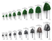 architectural model materials - CM green color Railroad Layout Architectural model making materials scale plastic model tree