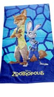 bathrobes for kids - Zootopia cartoonTowel for kids new Zootopia judy nick Baby Bath Towel Boys Girls Beach Towel Bathrobe Handkerchief cm DHL FREE