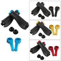 Wholesale TOPCABIN Ox Horn Silicone Ergonomic Handlebar Grips for Moutain Bike Blue