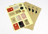 Wholesale class new just for you latest kraft package self adhesive sticker seal sticker