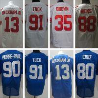 Wholesale new version men s Elite football Jersey Vernon Apple Jennings Beckham jr Manning free drop shipping