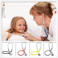 Wholesale Portable Dual Head EMT Clinical Stethoscope Medical Auscultation Device Medical Doctor Stethoscope Nurse Student Home Fonendoscopio