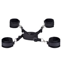 Wholesale MOJOY Under Bed Bondage Restraint System Furry Handcuffs and Ankle Cuffs Restraint Kit with Adjustable Straps