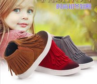 Wholesale kids winter baby shoes Fashion children shoes kids boots winter boots girls Tassel Princess Short Boots Warm Snow Boots Girls Shoes boots
