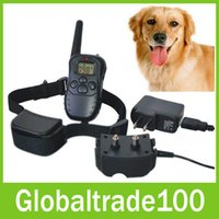 Wholesale Rechargeable And Waterproof Water resistant Meters Remote Electric Shock Anti bark Pet Dog Training Collar With LCD Display DR