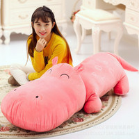 animal hippo - Large Cartoon Hippo Pillow Doll cm cm cm Plush Toy as Dirthday Christmas Gift