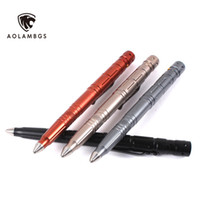 Wholesale Outdoor self defense tactical pen multi function tungsten steel head pen with LED light samll knife blade for glass breaker