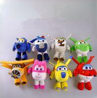 airplane game - Superwings plush toys Robot Stuffed Animals Mini airplane cartoon Plush Toys children cartoon Soft Doll cm KKA518