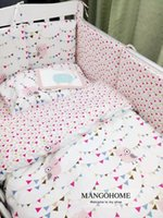 beds in china - 3pcs set baby bedding set cotton crib bedding set for newborn cute colorful owl colored flag design hot sale in China