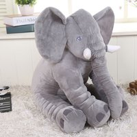 baby car seat toys - 28 cm Elephant Plush Soft baby Sleep Positioner Pillow Baby Dolls Baby Toys Sleep Bed Car Seat Cushion Pillows Kids Bedding