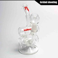 baby barrels - Hitman Glass Baby Double Barrel Recycler Vapor Rig bongs water pipe s bong glass dab oil rigs percolator bubbler pipe mini drum thick