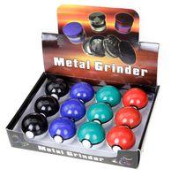alloy tool box - Poke Ball Manual Grinder Poke Go Grinding Smoke Poke Smoking Cigarette Alloy Machine Poke Smoke Grinding Detector Tools With Retail Box b518