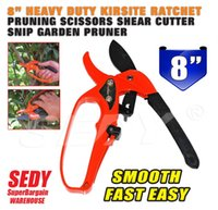 Wholesale 2016 New quot Heavy Duty Kirsite Ratchet Pruning Scissors Shear Cutter Snip Garden Pruner