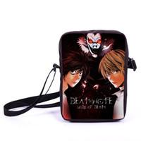Wholesale Anime Death Note Mini Messenger Bag Young Men Women Daily Bag Character L Lawliet Ryuuku Yagami Light Book Bag Kids Gift Bag