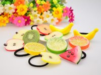 Wholesale Summer Style Fruit Slice Hair Accessories For Girls Women Elastic Hair Bands Rubber Bands Headwear