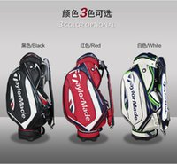 golf bags - 2016 new arrivals good quality golf club bags men leather golf bags golf staff bag colors
