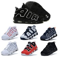 Wholesale Canvas Shoes For Low Price - 2016 AIR More Uptempo Scottie Pippen Basketball Shoes For Lover Fashion Best Price black white Top Quality Athletic Sport Sneakers Eur 41-47