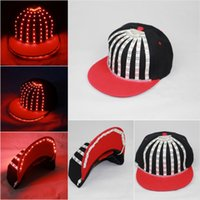 baseball birthday decorations - Birthday gift models party decorations New baseball led cap DJ club hat stage performances cap Party Supplies LED hat