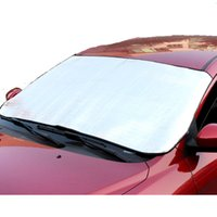 Wholesale 200cm cm Sunshade Silver Front Window Thicken Car Snow Shield Anti UV Snow Protection Covers For Cars Off