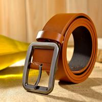 Wholesale hot sale cm men belt pin buckle simple plain fashion designer men woman genuine leather belt