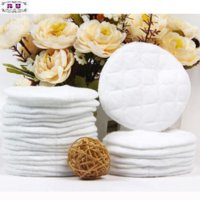 Wholesale 6pcs Reusable Nursing Breast Pads Washable Soft Absorbent Feeding Breastfeeding