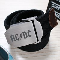 acdc belt - 2016 New Top Fashion Belts Yaocok Rock DJ ACDC Light Body Spot Embossing Rectangle Men Women Smooth Mouth Automatic Buckle Belt