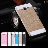 a5000 - A5 Bling PC Capa Ultra Thin Glitter Powder Hard Back Case For Samsung Galaxy A5 A5000 A7 A7000 Slim Shiny Sparkle Phone Cover
