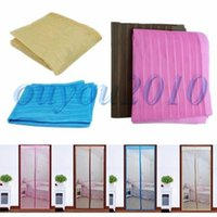 Wholesale 1Pcs Hot Sale New Arrival Colorful Magic Curtain Mesh Net Screen Door Magnetic Anti Mosquito Bug Fly Hands Free