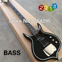 bass guitar photos - Gene Simmons Punisher Electric Bass Guitar With Mahogany Body String Bass Diamond Inlay Fret Real photo shows