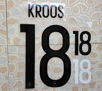 Wholesale Germany HOME KROOS name numbering nameset soccer patch soccer badge