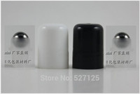 Wholesale black white roll on cap with stainless roller could match with ml ml ml ml ml ml ml essential oil bottle mm