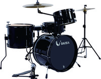 Wholesale Drum set BJ11641 PVC Piece Junior Drum Set with Single Lug Black Powder