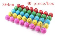 Wholesale 40pcs Novel Water Hatching Inflation Colorful Dinosaur Eggs Watercolor Grow Egg Educational Toys Classic toys for Unisex Kid